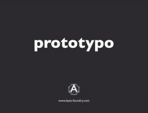 Fonts selbst erstellt: Prototypo